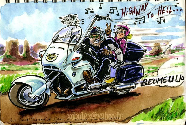 Motard dessin humour - Dessin motard humoristique ...